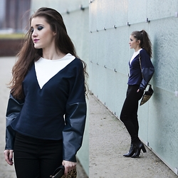 Iwińska .com - Iwinska, Mohito Clutch - Leather blouse & shoes: COLD SUNDAY
