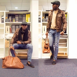 Kelvin Ogumor - New Look Bag, River Island Jeans, Primark Jacket, Primark Jumper, H&M Shoes, Primark Scarf, Primark Hat - Hold all