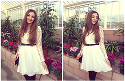 Helen D* - Sheinside White Lace Dress - * White as Snow *