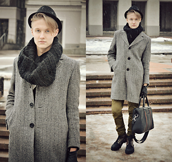 David Zakis - Pants, Zara Coat, H&M Scarf, H&M Hat, Gloves, Monton Bag, Boots - And I Want You To Know