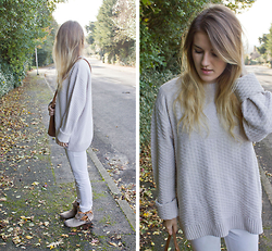 Robyn C - Marks And Spencer Jumper, River Island Jeans, Zara Boots - SLOUCHY NEUTRALS