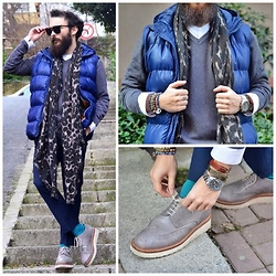 ALICAN AYSIN - Zara Scarves, Dsquared2 Sweater, Asos Gilet, Grenson Shoes, Cos Shirt, Cos Socks, Zara Pants - MONDAY SYNDROME? NO!