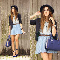 Flávia Desgranges van der Linden - Eloecom Skirt, Gap Blazer, Asos Hat - Fly Me to the Moon