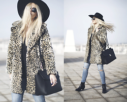 Inês M - Missguided Jacket, H&M Hat, Mango Jeans, New Look Boots, H&M Bag - Leo Droid