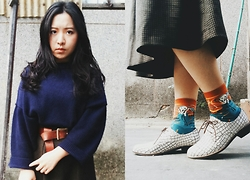 Junci Wang - Once Upon A Time Bricked Pattern Shose, Once Upon A Time Skrik Socks - What is essential isinvisible to the eyes