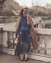 Silvia P. - Zerouv Sunnies, H&M Jeans, Louis Vuitton Bag, Zara Maxi Coat - From Paris with love