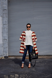 Melissa De Leon - Anthropologie White Cotton Sweater, Citizens Of Humanity Light Wash Skinny Jean, 3.1 Phillip Lim Pashli Tote, Schutz Leopard Heel - Tapestry Coat