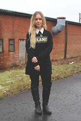 Emma Reay - Elite 99 Milano Dress, Primark Black Leggings, New Look Over The Knee Boots - The Jumper Dress
