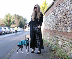 Kylie Lawson - Warehouse Check Trousers - Duster + Check