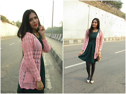 Pooja Mittal - Echopaul Cardigan Heart Long Sleeve Sweater Femininas Cardigans Coats - A Kiss Of Sun