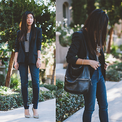 Stephanie Liu - Nicole Miller Blazer, Hudson Jeans, Jimmy Choo Pumps - Office Life