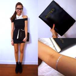 Claudia-Kate AY - Pandora Bracelet, Links London Sweetie, Nasty Gal Dress, Topshop Booties, Sephora Metallic Tattoos - Ner∆ it up