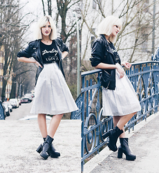 Mikuta - Lashes Of London Skirt, Zara Tshirt, Zara Jacket, Depeche Boots - Silver