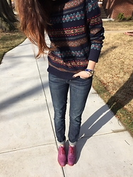 Sahra S - J. Crew Sweater, Levi's® Jeans, Cole Haan Shoes - Casual Sunday