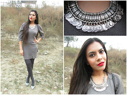 Pooja Mittal - Oasap Antique Coin Necklace - Antique coin necklace