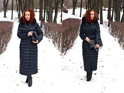 Anna Okonishnikova - Maxmara Down Coat, Baldinini Boots, Chanel Bag - GLORY