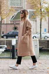 Christine R. - Ganni Coat, Superga Sneakers - Coat