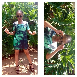 Gontse Mathabathe - Woolworths Green Printed Shift Dress - +Green Summer+