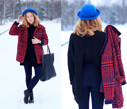 Wioletta Mary Kate -  - Orange Blue Winter Look