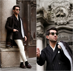 Filippo Fiora - Salvatore Ferragamo Coat, Church's Shoes, Fendi Sunglasses - MY MILANO