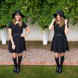 Avi Valencia - Stradivarius Fedora Hat, Forever 21 Lbd, Daniel Wellington Classic Black Watch - Classic Black Look