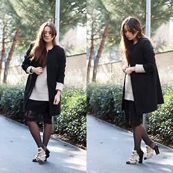 Romina Ch - Zara Coat, Express Sud Sweater, La Redoute Skirt, H&M Embroidered Shoes - Let's try it