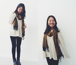 Manisha C.O -  - Gold scarf