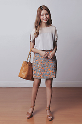 Tricia Gosingtian - Harlan+Holden Top, Kate Spade Skirt, Coach Bag, Anthology Shoes Wedges - 012915