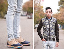 Ahmed Imoudrog - Go To Visit My Blog - Flowers bomber jacket