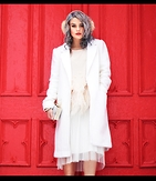 Kayla McC - Moulinette Soeurs Feathery Fringe Blouse, Forever 21 Structured Jacket, Taxidermy Brand, Rehab Clothing Tutu Maxi Skirt, Anthropologie Faux Fur Earmuffs - Frills, Feathers, & Frou Frou
