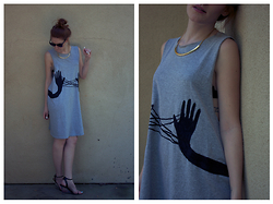 Jenna O - Handmade Dress, Calvin Klein Shoes, Target Gold Necklace - Cat's Cradle