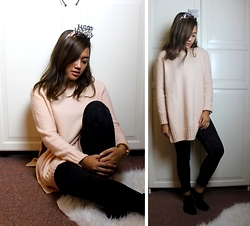 Yanii Putrii - Zara Rosa Sweater, H&M Black High Waist - Casual Birthday Look (: