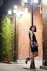 Dorothy Chang - H&M Dress, Dresscodetw Bag - Night
