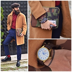 ALICAN AYSIN - Asos Trousers, Grenson Shoes, Mudo Coat, Herschel Case, Nautica Watch, Asos Cap, Raf Simons Sweater - RHYTHM OF COLORS