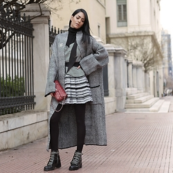 Konstantina Tzagaraki - Dress, Cardigan, Chanel Bag - People who usually hide their feeling care the most..