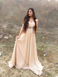 Pooja Mittal - Dresswe Pretty A Line Sweetheart Crystal Pleats Prom Dress - The Confidant Evening Gown