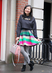 Mary G - Mo&Co Crop Top, Dizzit Wool Skirt, Cheap Monday Ankle Boots, Kate Spade Leather Purse - The Perfect Winter Skirt