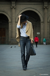 Luba { Well Living Blog } - 7 For All Mankind Jeans, Michael Kors Bag - Flare jeans & Camel Cardigan