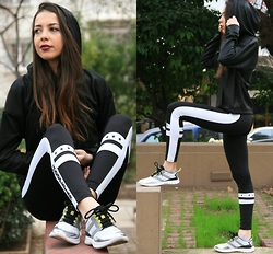 Blertina Shabani - Zara Sport Sneaker, Bershka Start Moving, Zara Leather Sweater - Wandering the Parks