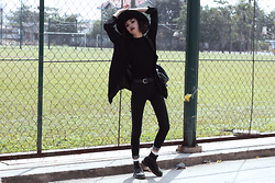 Vu Thien - Young Hungry Free Jacket, Thrift Store Top, Sheinside Jeans, Dr. Martens Boots - DARK MOOD