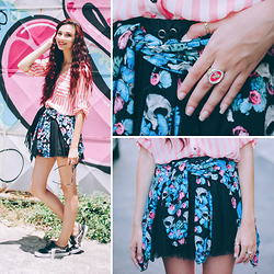 Camila Damásio - Riachuelo Bomber Jacket, Marisa Black Skirt, Plumax Shoes - Livin' it up in the city