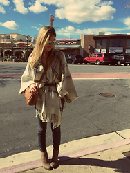 Lindsey Simon - Asos Cape, J. Crew Cords - Boulder City Brunch