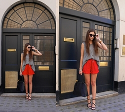 Emma Lucey - Next Shorts, Next Shoes, Next Bag, Oscar Wylee Sunglasses - Little Red