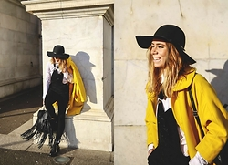 Natalia Homolova - Asos Hat, Goldie London Overall, Chloé Coat, Asos Shirt, Primark Backpack, Zara Boots, Natinstablog Sunglasses - TomBOY overALL
