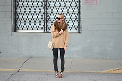 Lauren - Zara Strappy Sandals, Shareen Vintage Fur - Camel & Black