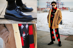 TYLER - Saint Laurent Sweater, Saint Laurent Scarf, Saint Laurent Shoes, American Apparel Belt, Topman Jeans, Vintage Jacket - 200