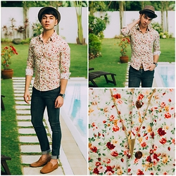 Ira Giorgetti - Por Santo Loafers, All Saints Skinny Jeans, Crazy Fashion Hk Flower Print Shirt, Asos Watch - Old Fashioned Romance