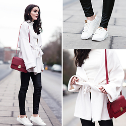 Anouska Proetta Brandon - H&M Sneakers, H&M Cardigan, Florian London Bag, River Island Jeans - Comfort is key.