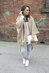Sarah Hanrahan -  - All Grey & Camel Cape