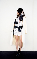 Cindy Teng - Missguided Shirt Dress, Nasty Gal Leather Jacket, Missguided Coat, Missguided Boots - When In Doubt